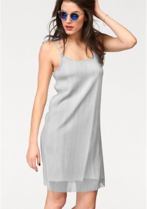 Платье Aniston. Цвет: серебристый