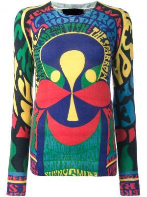 Трикотажный топ с принтом в стиле 1970х Ultràchic. Цвет: многоцветный