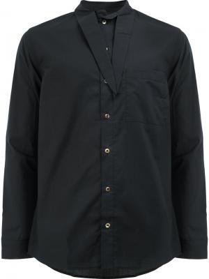Рубашка с завязками на воротнике By Walid. Цвет: чёрный