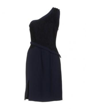 Короткое платье AZZARO. Цвет: темно-синий