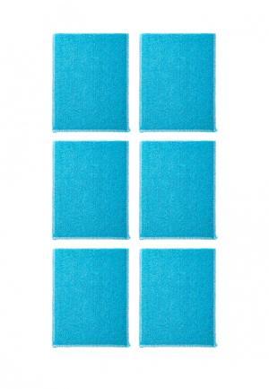 Комплект салфеток 6 шт. La Pastel. Цвет: голубой
