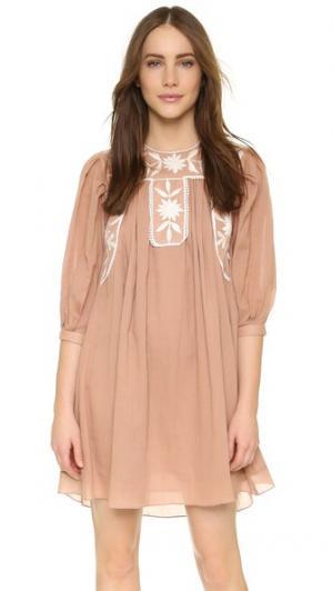 Платье с вышивкой Carolina K. Цвет: выцветший розовый