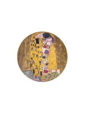 Тарелка  декоративная Поцелуй Elan Gallery. Цвет: золотистый, коричневый, черный
