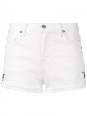 Denim shorts Sandrine Rose. Цвет: белый