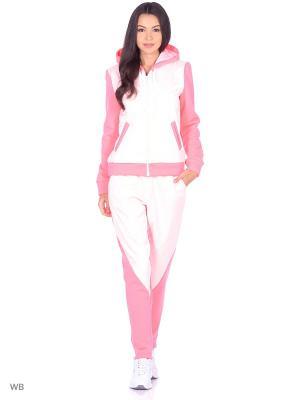 Спортивный костюм (утепленный) FORLIFE. Цвет: розовый, молочный