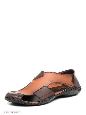 Сандалии METROPOLPOLIS. Цвет: коричневый