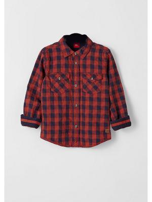 Рубашка S.OLIVER. Цвет: светло-коричневый
