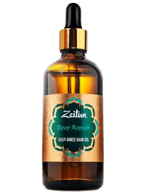Легкосмываемое масло для волос Глубокое восстановление с арганой и жожоба Зейтун. Цвет: золотистый