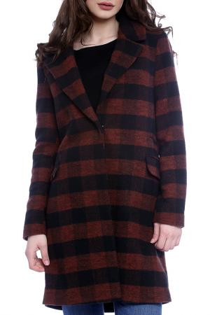 Пальто Moda di Chiara. Цвет: brown and black