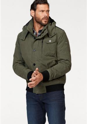 Куртка Arizona. Цвет: оливково-зеленый/черный