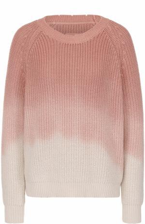 Пуловер фактурной вязки с эффектом деграде Zadig&Voltaire. Цвет: розовый