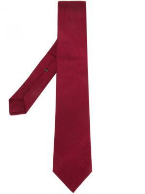 Жаккардовый галстук Borrelli. Цвет: красный