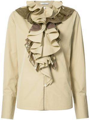 Блузка с оборками спереди Tome. Цвет: телесный