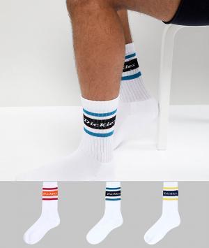 Dickies 3 пары носков Madison Heights. Цвет: белый