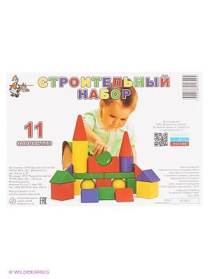 Строительный набор  11 элементов Десятое королевство. Цвет: желтый, зеленый, красный, синий