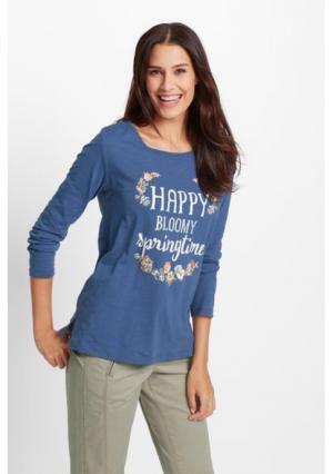 Кофточка. Цвет: джинсовый синий с рисунком, лососевый с рисунком