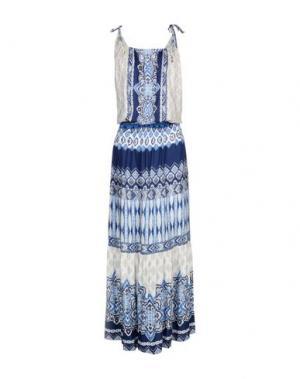 Длинное платье HALE BOB. Цвет: синий