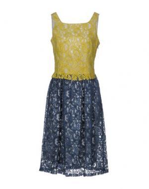 Платье до колена GARAGE NOUVEAU. Цвет: желтый