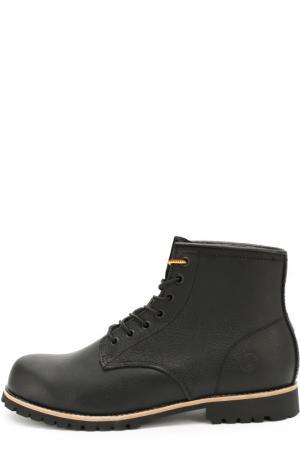 Кожаные ботинки Moscow на шнуровке Affex. Цвет: черный