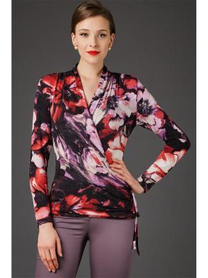 Блузка Арт-Деко. Цвет: сливовый, красный, розовый