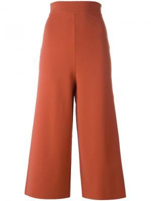 Укороченные широкие брюки Stella McCartney. Цвет: жёлтый и оранжевый