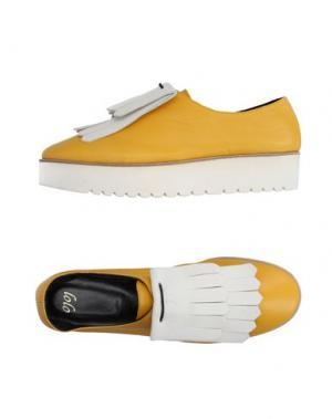 Обувь на шнурках LOLO. Цвет: желтый