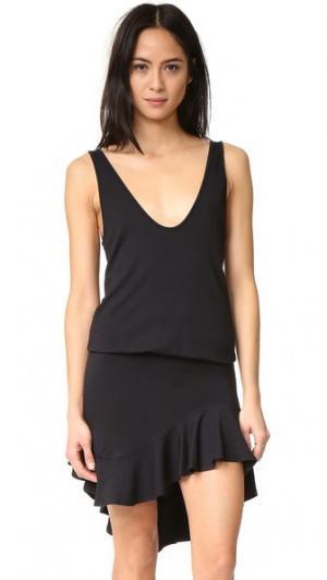 Платье Skye Riller & Fount. Цвет: черная махровая ткань