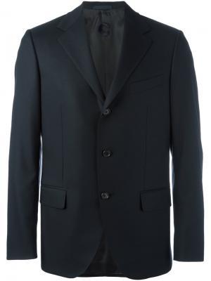 Пиджак с застежкой на три пуговицы Caruso. Цвет: синий