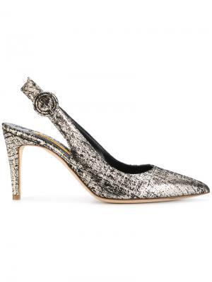 Туфли-лодочки Dahlia с открытой пяткой Rupert Sanderson. Цвет: металлический