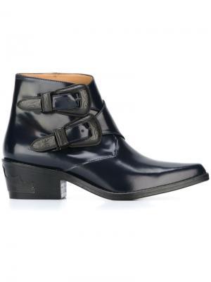 Ботинки с ремешками на пряжке Toga Pulla. Цвет: синий