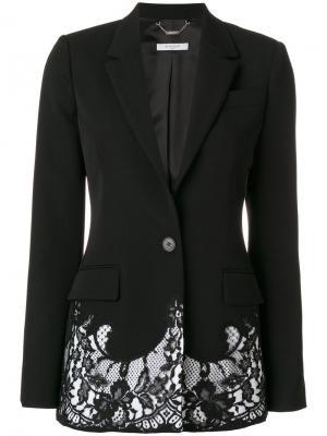 Блейзер с кружевной оторочкой Givenchy. Цвет: чёрный