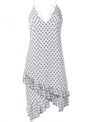 Платье с принтом вишен Altuzarra. Цвет: белый