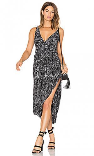 Платье в восточном стиле горошек kristin Vix Swimwear. Цвет: черный