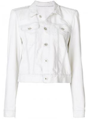 Джинсовая куртка Unravel Project. Цвет: белый