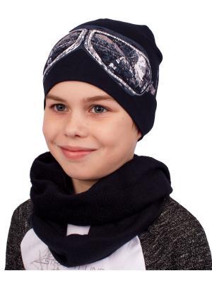 Шапка, шарф Апрель. Цвет: черный