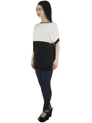 Блузка OROBLU. Цвет: черный, молочный