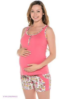 Домашний комплект для беременных ФЭСТ. Цвет: розовый, белый
