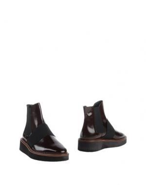 Полусапоги и высокие ботинки FABIO RUSCONI. Цвет: красно-коричневый
