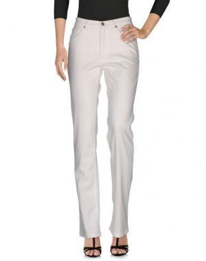 Джинсовые брюки BLUE LES COPAINS. Цвет: белый