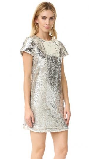 Платье Lynx с блестками Rebecca Minkoff. Цвет: золотистый/серебристый