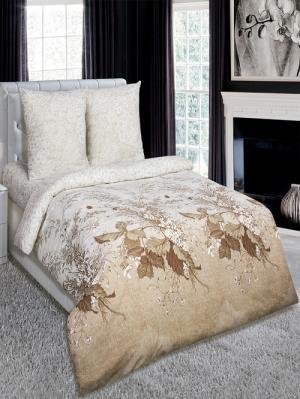 Комплект постельного белья тк. Поплин Адажио Арт Постель. Цвет: бежевый
