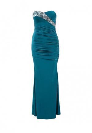 Платье Goddiva. Цвет: бирюзовый
