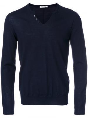 Трикотажный свитер Paolo Pecora. Цвет: синий
