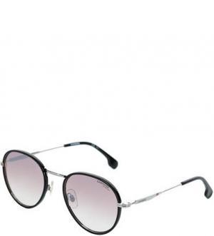 Солнцезащитные очки с округлыми линзами Carrera. Цвет: черный