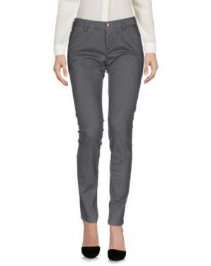 Повседневные брюки TRĒZ. Цвет: свинцово-серый