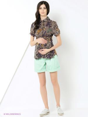 Блуза UNIOSTAR. Цвет: светло-коричневый, фиолетовый
