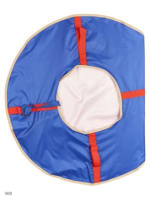 Санки надувные Ватрушка Метиз. Цвет: синий, бежевый, белый