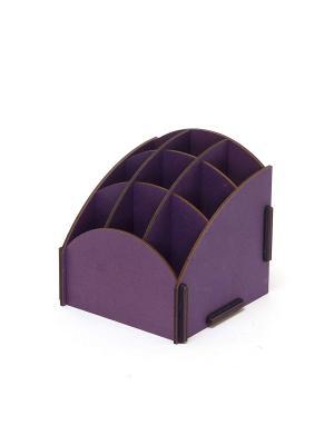 Органайзер на стол 9 ячеек фиолетовый Homsu. Цвет: фиолетовый