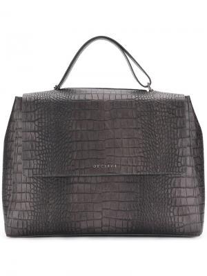 Текстурированная сумка-тоут Orciani. Цвет: чёрный