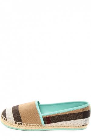 Эспадрильи Burberry. Цвет: голубой